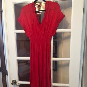 Free People Red Maxi Dress NWOT